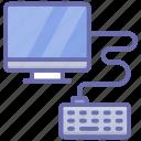 computer hardware, computer keyboard, desktop, input device, typing gadget, wired keyboard icon