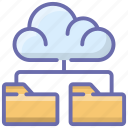 cloud computing, cloud document, cloud folder, cloud hosting, cloud storage icon