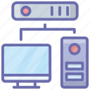 computer network, computer server, data server, hosting computer, mainframe computer icon