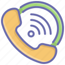 call, communication, incoming call, phone, receiver, ringing call icon