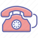 handset, landline, office telephone, telecommunication, telephone, wired phone icon