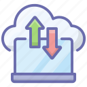 cloud computing, cloud downloading, cloud technology, cloud transfer, cloud uploading icon