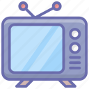 broadcast, retro screen, retro television, retro tv, television, tv, vintage tv icon
