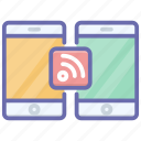 connected devices, internet connection, mobile connection, mobile internet, wireless connection icon