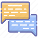 chatting, comments, conversation, messaging, speech bubbles icon
