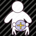 add account, add friend, add person, add profile, add user, assign icon