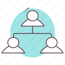 business connections, business network, hierarchy, hierarchy of company, organization chart icon