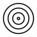 achieve, aim, board, dart, goal, illusion, target icon