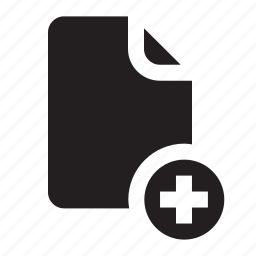 add, document, file, important, inert, memo, paper icon