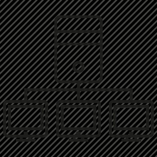 communication, computer, internet, lan, link, network icon