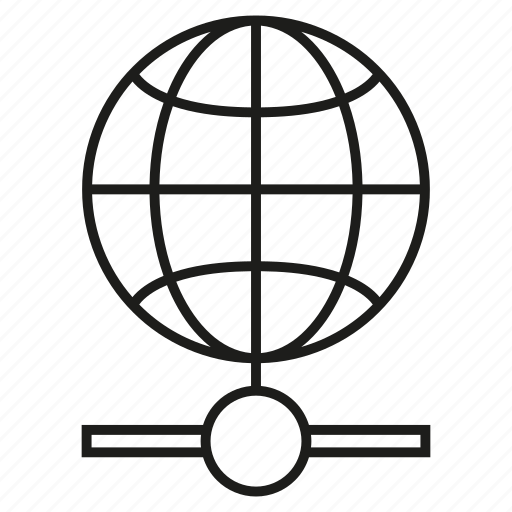 connect, globe, network, world icon