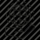 communication, globe, global, network, hand