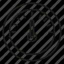 gauge, measure, scale, speed test, speedometer icon
