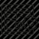 cog, gear, internet, program, system, web icon