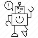 error, mascot, program, robot icon