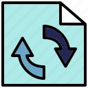 consistency, data, process, synchronization icon