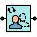 intermediary, ip, proxy, server icon