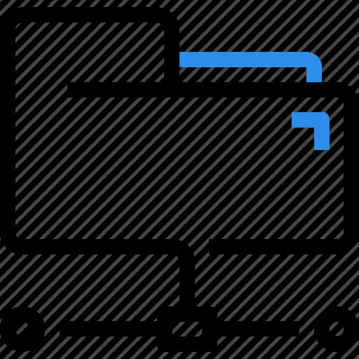 connect, data, database, document, file, folder, network icon
