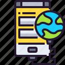 connection, internet, online, smartphone, social media, website icon