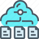 cloud, connect, data, database, document, network, storage icon