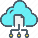 cloud, connect, data, document, network, online, storage icon