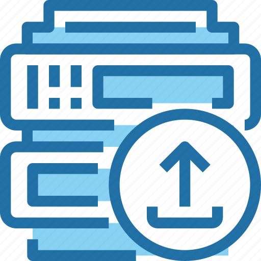 arrow, connect, data, network, server icon