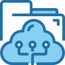 cloud, connect, data, document, folder, network icon