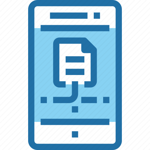 connect, data, document, mobile, network, smartphone icon