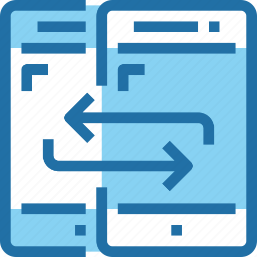 connect, exchange, file, mobile, network, smartphone icon