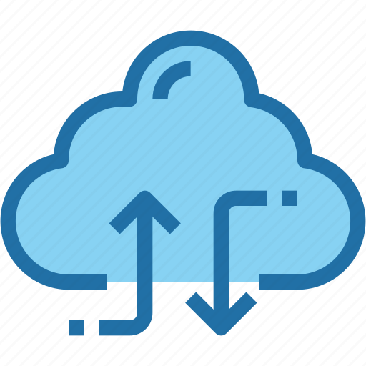 arrow, cloud, connect, exchange, network, share, storage icon