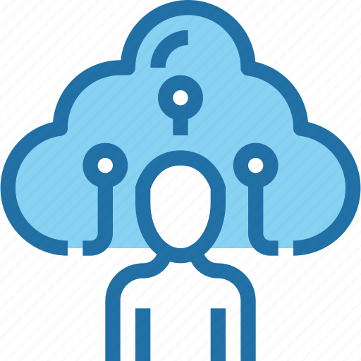 cloud, connect, network, people, storage, user icon
