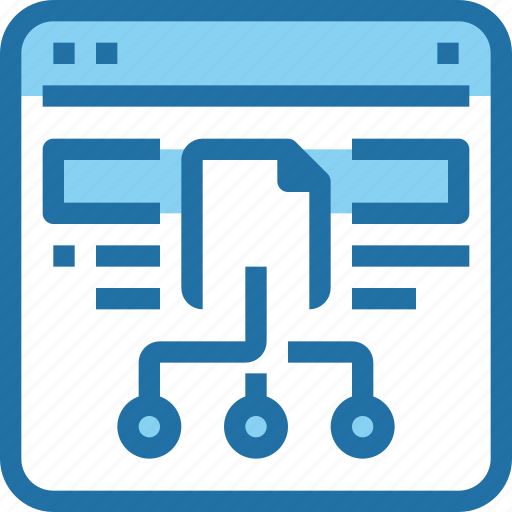 browser, connect, data, document, file, network, sharing icon