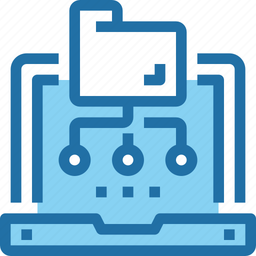 computer, connect, data, folder, network, technology icon