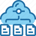 cloud, connect, data, document, file, network, storage icon
