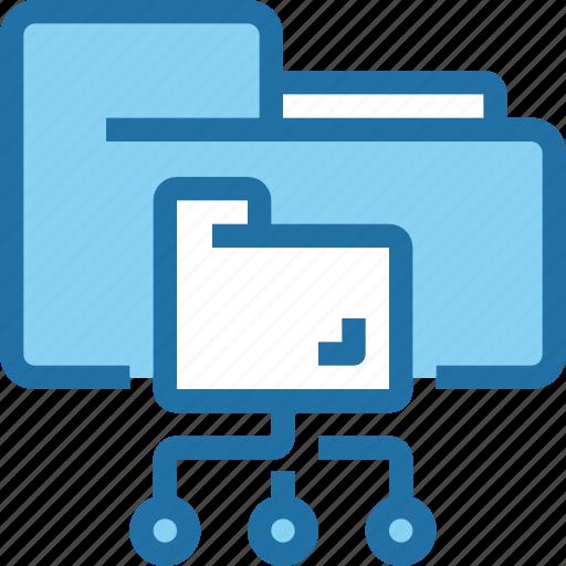 cloud, connect, data, file, folder, network, storage icon