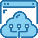 browser, cloud, connect, network, storage icon