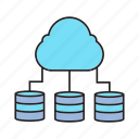 cloud computing, data center, database, hosting, network, server, share icon