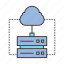 cloud computing, connection, internet, network, router icon
