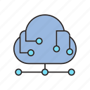 cloud computing, internet, network icon