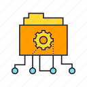 cog, file, folder, gear icon