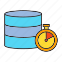 data center, database, hosting, internet, network, server, speedometer icon