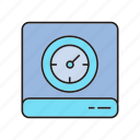 device, hard disk, speedometer icon