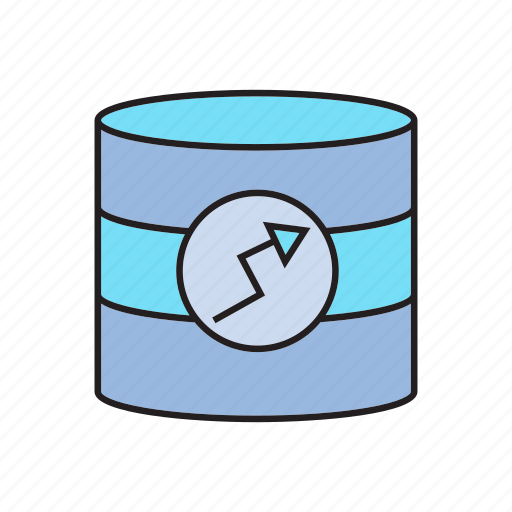 data analysis, data analytics, database, graph, server icon