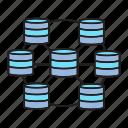 big data, data center, database, hosting, network, serer icon