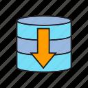 backup, cyber, database, download, internet, network, webserver icon