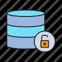 database, key, lock, security, server