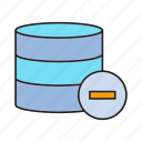 database, minus, server icon