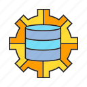 cog, database, gear, server, setting icon