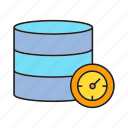 hosting, server, speedometer icon