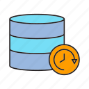 database, hosting, server, speedometer icon